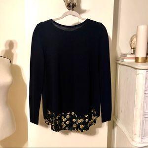 Loft Navy Loose Sweater. Size L